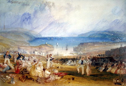 Plymouth Hoe, by J.M.W. Turner