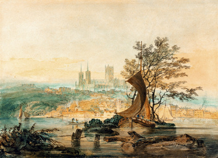 View of Lincoln, by J.M.W. Turner