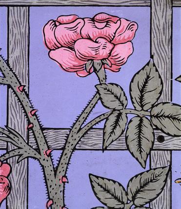 Climbing Rose wallpaper, by William Morris
