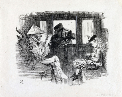 Alice in a Train Carriage