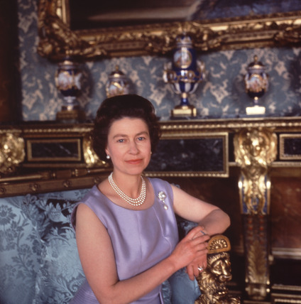 Queen Elizabeth II at Buckingham Palace