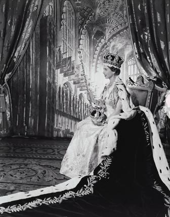 Queen Elizabeth II in her Coronation robes