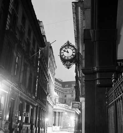Streetlight and clock