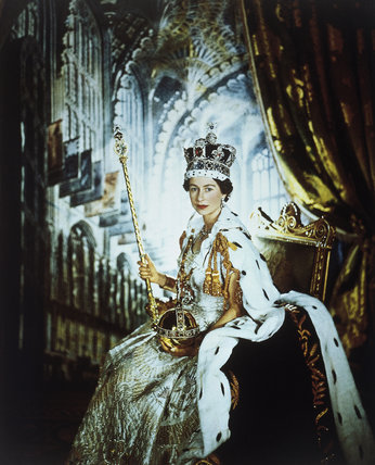 Queen Elizabeth II in Coronation robes