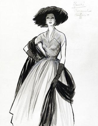 fashion sketch by marcel fromenti memoryprintscom