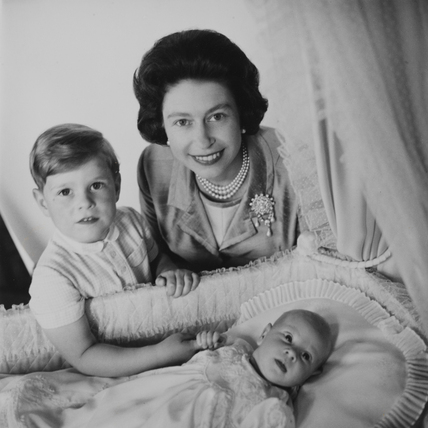 Queen Elizabeth II, Prince Andrew and Prince Edward