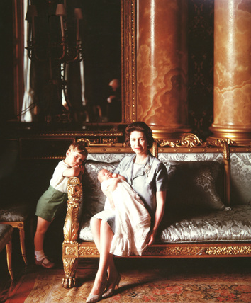 Queen Elizabeth II with Prince Andrew
