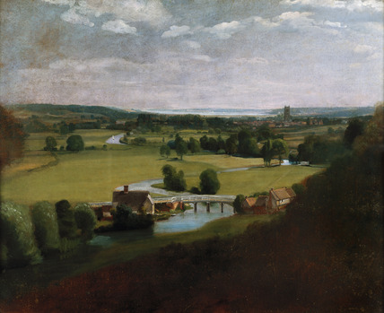 The Valley of The Stour with Dedham in the distance, by John Constable