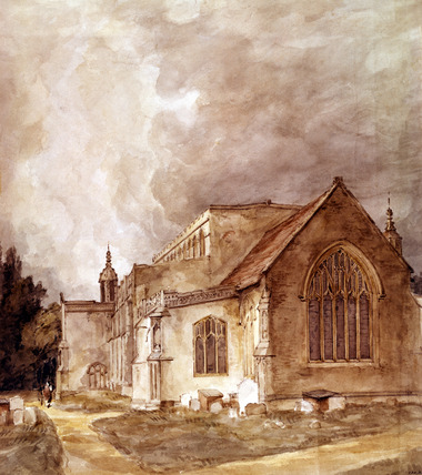 East Bergholt Church, by John Constable
