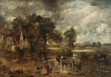 Full-scale study for The Hay Wain, by John Constable