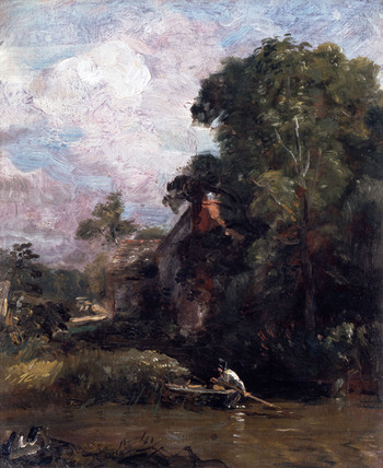 Sketch for The Valley Farm, by John Constable