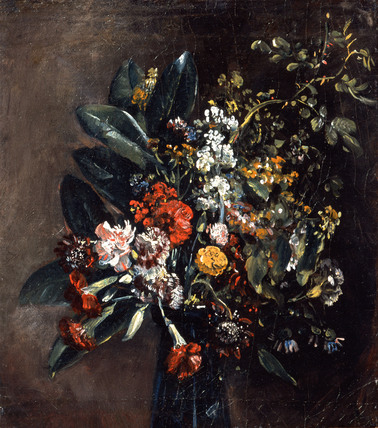Study of flowers in a glass vase, by John Constable