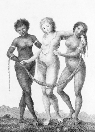Europe supported by Africa and America, by William Blake