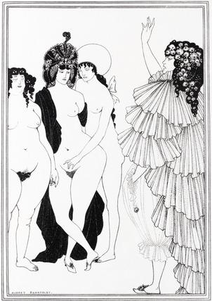 Lysistrata Haranguing the Athenian Women, by Aubrey Beardsley