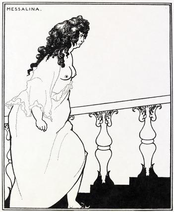 Messalina returning from the bath, by Aubrey Beardsley