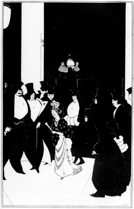 Lady Gold's Escort, by Aubrey Beardsley