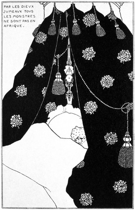 Self portrait, by Aubrey Beardsley