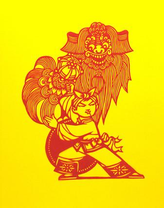 Lion Dance, Chinese Papercut