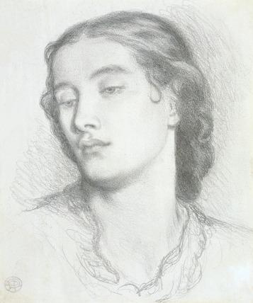 Study of a woman's head, by Dante Gabriel Rossetti