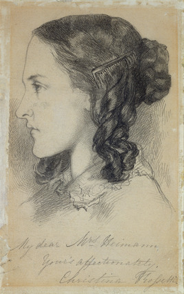 Christina Rossetti at the age of 16, by Dante Gabriel Rossetti