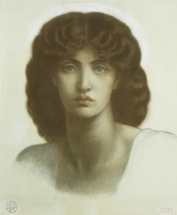 Study of the head for Astarte Syriaca, by Dante Gabriel Rossetti