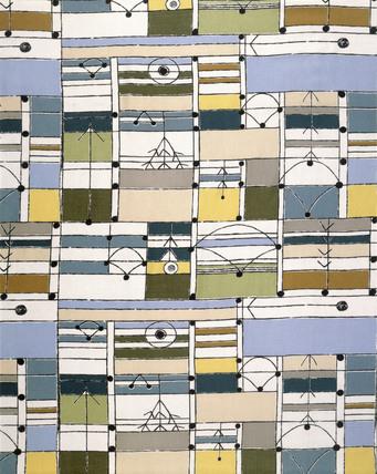 Furnishing fabric, by Jacqueline Groag