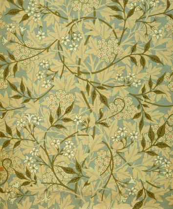 Jasmine wallpaper, by William Morris