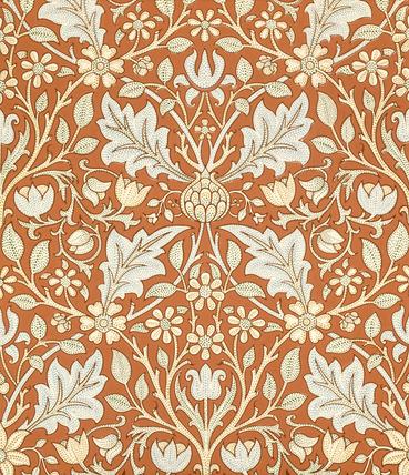 Triple Net wallpaper, by William Morris