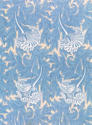 Tulip furnishing fabric, by William Morris