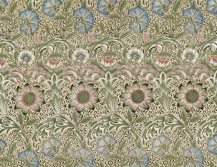 Corncockle furnishing fabric, by William Morris
