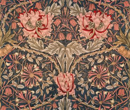 Honeysuckle furnishing fabric, by William Morris