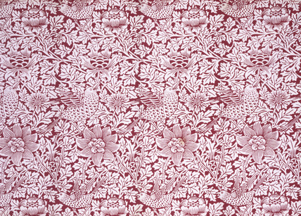 Bird and Anemone furnishing fabric, by William Morris