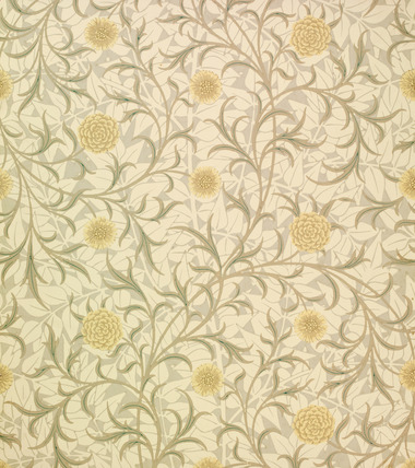 Pattern wallpaper, by William Morris