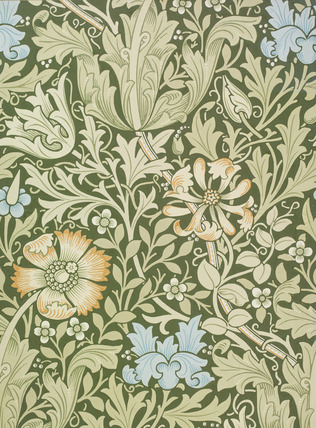 Compton wallpaper, by William Morris