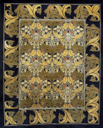 Carpet furnishing fabric, by C.F.A.Voysey