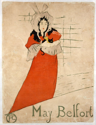 May Belfort, by Henri de Toulouse-Lautrec