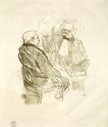 George Clemenceau et L'Oculiste Mayer, by Henri de Toulouse-Lautrec