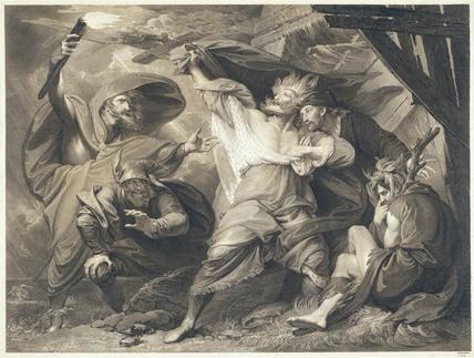 King Lear in The Storm, by John & Josiah Boydell