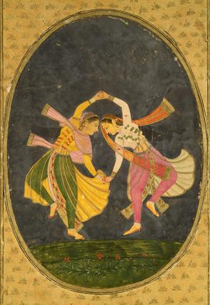 Girls performing a Kathak Dance