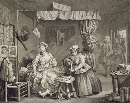The Bedroom Scene, by William Hogarth