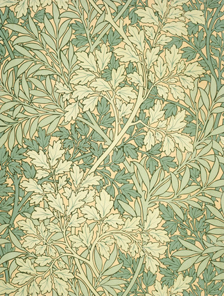 Foliage wallpaper, by William Morris