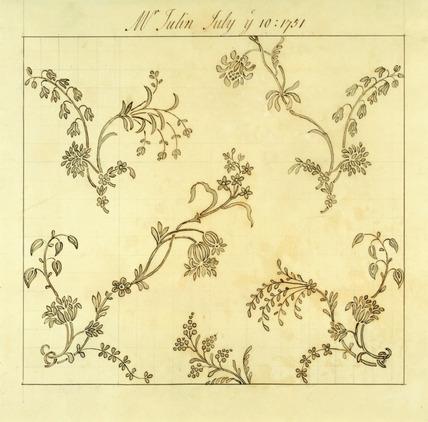 Design for woven silk, by Anna Maria Garthwaite