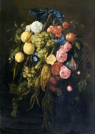 Fruit and Flowers, by Cornelis de Heem