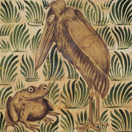 Stork and Frog, by William de Morgan