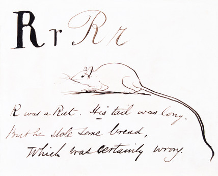The letter R, by Edward Lear