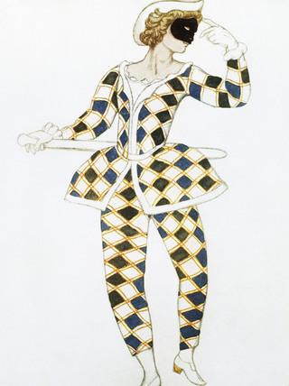 Costume design for Harlequin, by Leon Bakst