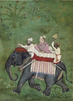 Nobleman on an elephant