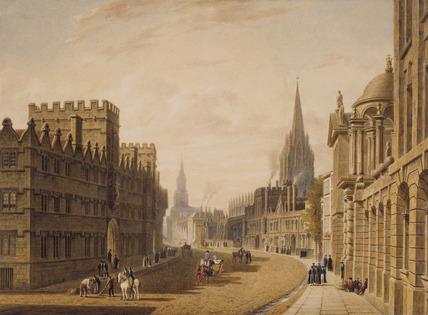 High Street, Oxford, by Augustus Charles Pugin