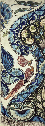 Tile design, by William De Morgan