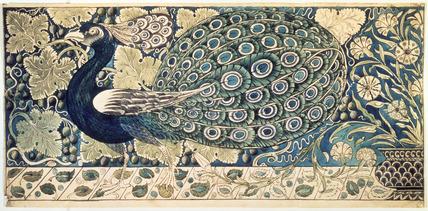 Design for a tile panel, by William De Morgan